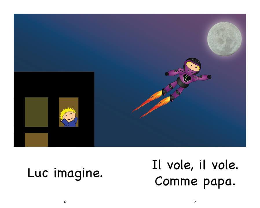 Extrait Luc et la Lune