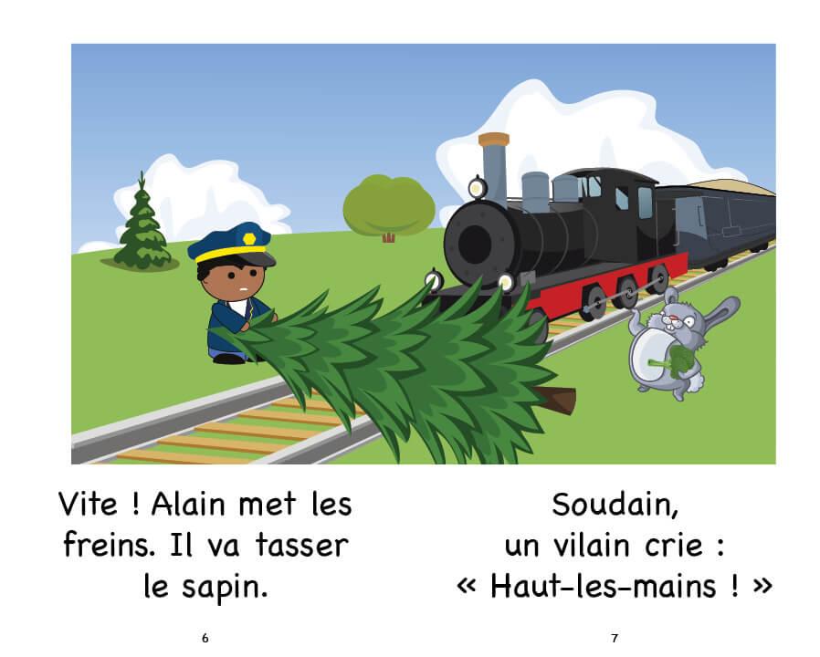 Extrait d'Alain et le train