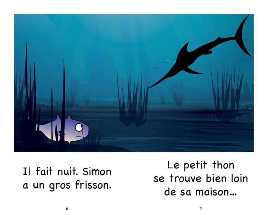 Extrait de Simon et le thon